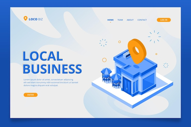 Local business landing page template