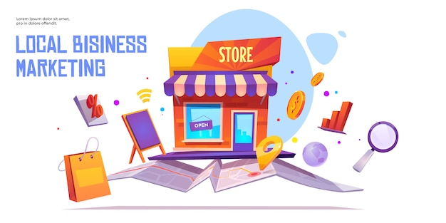 Local business marketing  banner template