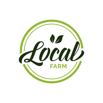 Local farm lettering in green circle