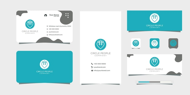 Local people recruitment logo design and business card