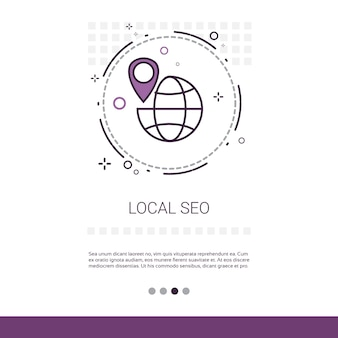 Local seo keywording search web banner