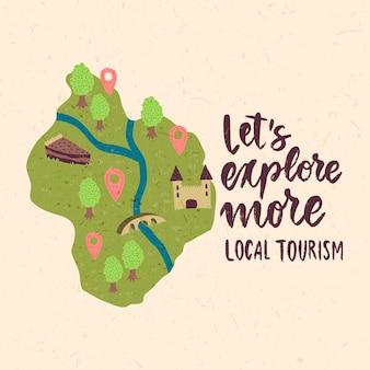 Localtourism concept