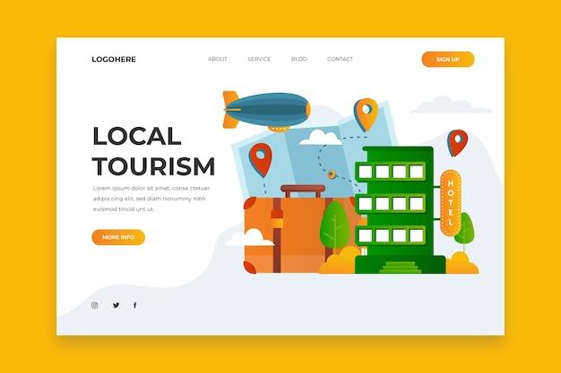 Local tourism landing page concept