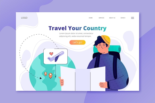 Local tourism landing page template
