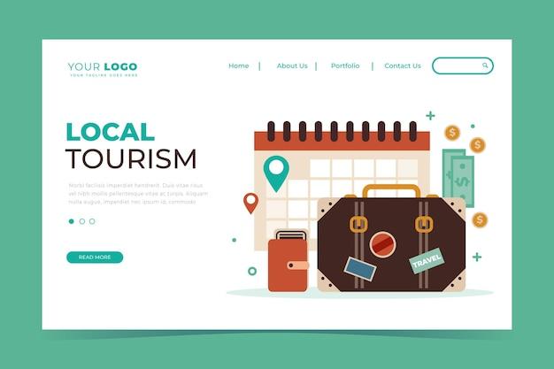 Local tourism - landing page