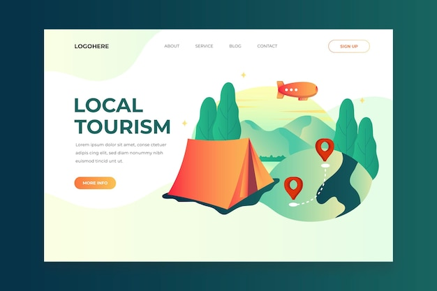 Local tourism landing page