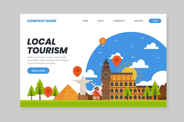 Local tourism - landing page