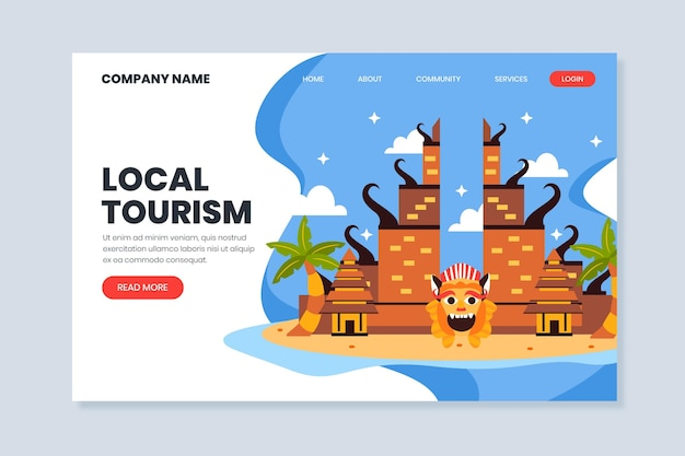 Turismo locale - landing page