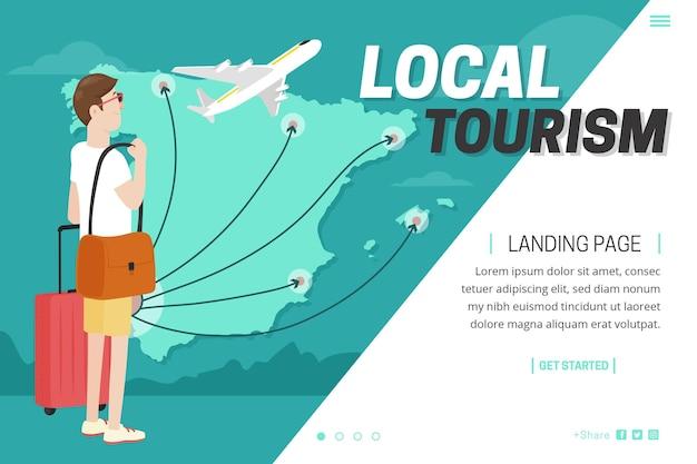 Местный туризм - лендинг