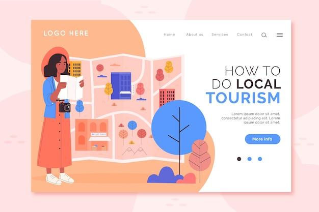 Local tourism landing page
