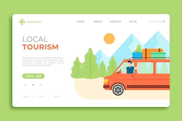 Целевая страница местного туризма Бесплатные векторы