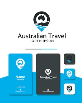 Location australia logo design pin travel map