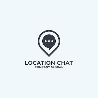 Location chat logo