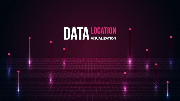 Location data background with shiny light.
