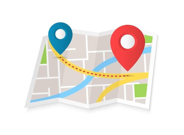 Расположение плоский цветной значок модный символ навигации для мобильного приложения веб-дизайна
