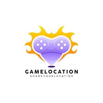 Локация игровой логотип