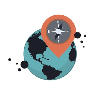 Location and gps vector concept