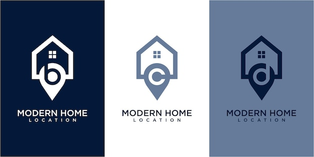 Location home logo design. location logo design. home logo concept. home and location logo design inspiration