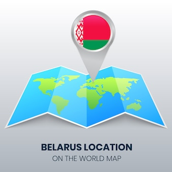 Location icon of belarus on the world map