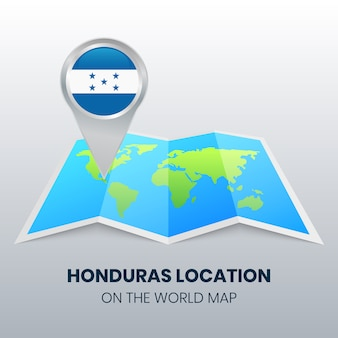 Location icon of honduras on the world map