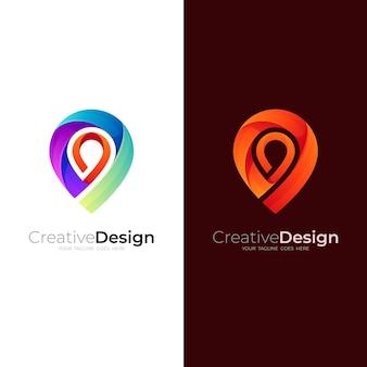 Логотип местоположения с красочным дизайном