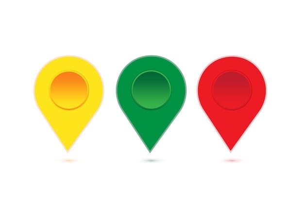 Маркеры указателя gps на карте местоположения для пункта назначения