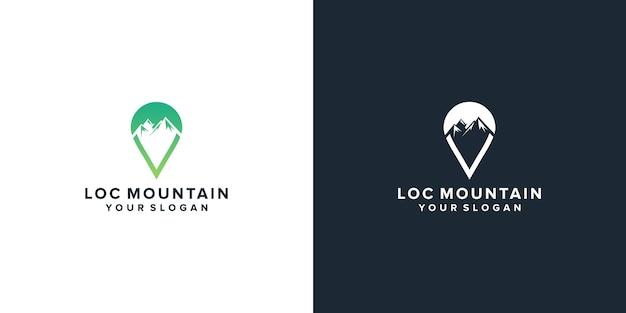 Location mountain logo design