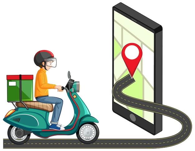 Perno di posizione sull'applicazione mobile