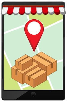Location pin on mobile application