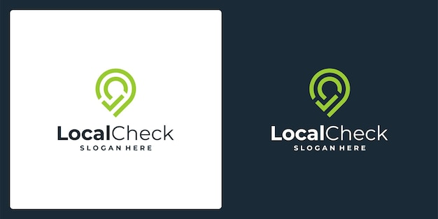 Location pin sign inspiration with check mark. premium vector