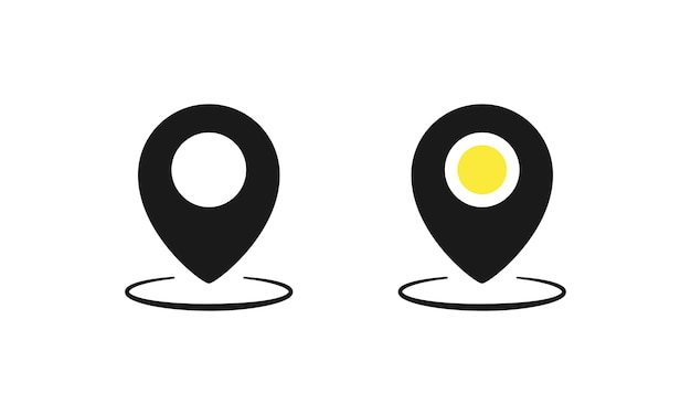 Location pointer icon set. gps navigation. vector eps 10. isolated on white background.