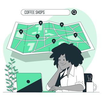 Illustrazione di concetto di ricerca di posizione