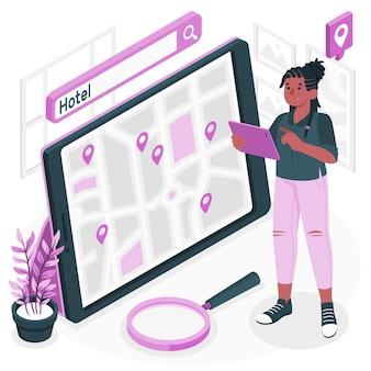 Illustrazione di concetto di ricerca di posizione Vettore gratuito