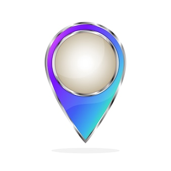 Символ местоположения - вектор.