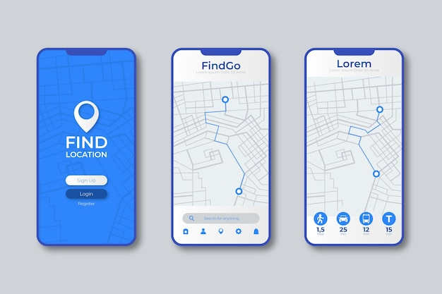 Location tracker app interface