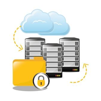 アーカイブフォルダのデータセンター関連のロック
