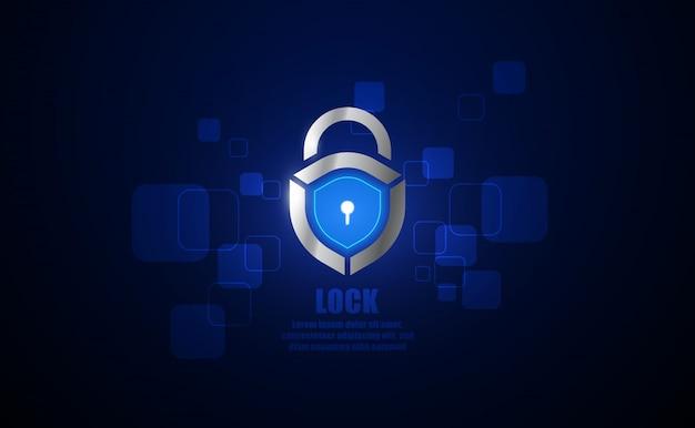 Lock creative symbol concept