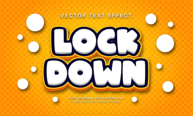 Lock down editable text effect with social distancing theme