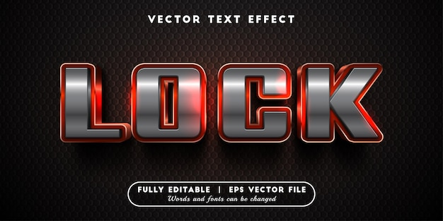 Lock text effect with editable text style