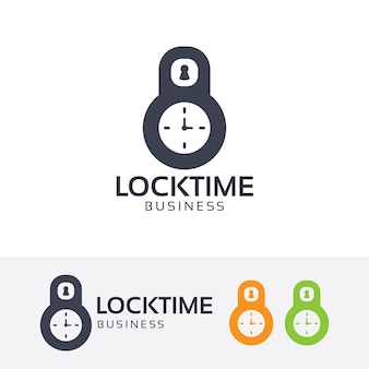 Lock time logo template