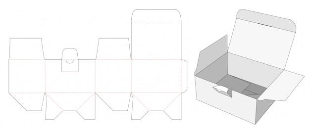 Lockable packaging die cut template
