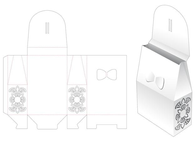 Locked bag with mandala stencil die cut template