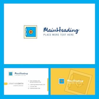 Логотип locker с логотипом слоган и передней и задней карты busienss. Бесплатные векторы