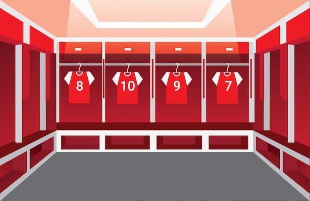 Раздевалка, раздевалка иллюстрация футбольной команды