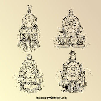 Locomotive hand drawn desig
