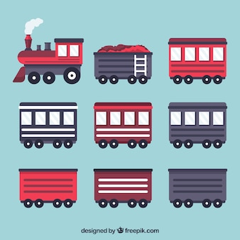Locomotive with a collection of wagons