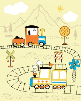 Locomotives cartoon
