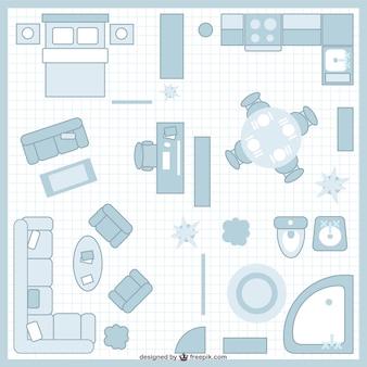 Чердак план векторные иллюстрации