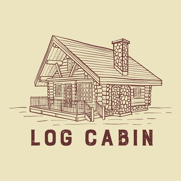 Log cabin illustration