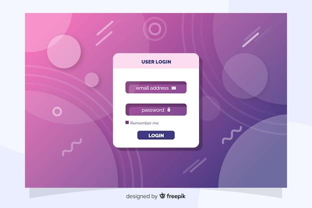 Войти на целевую страницу с плоским дизайном